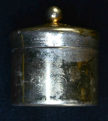 Vintage Sterling Silver Pill / Snuff Box Engraved OS Beautiful Light Gold Wash
