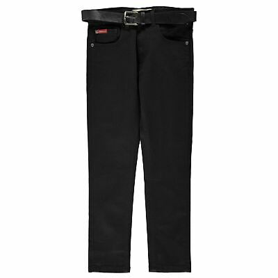 Lee Cooper Belted Skinny Jeans Youngster Boys Pants Trousers Bottoms Lightweight