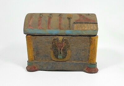 Rare Egyptian Antiques Stone Sarcophagus Sepulture Coffin Tomb
