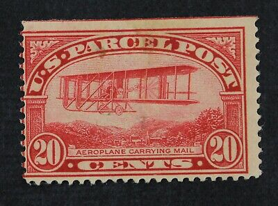 CKStamps: US Newspaper Stamps Collection Scott#Q8 20c Mint H OG Thin