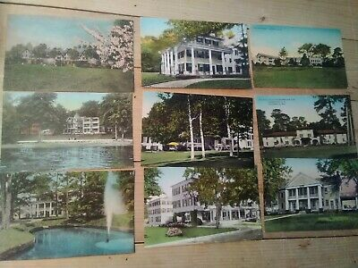 21 Antique Hand-Colored Postcards, Great Color