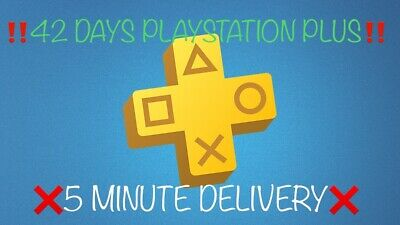 42 DAYS PLAYSTATION PLUS | PS4-PS3 -Vita | ‼️RAPID DELIVERY‼️