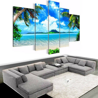 5Pcs Abstract Canvas Art Oil Print Art Painting Wall Picture Modern Home Decor R