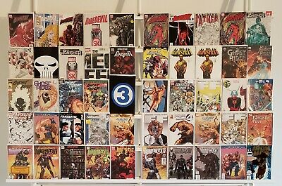 Punisher Daredevil FF Marvel Variants 50 Comic Book Lot Comics Collection Run