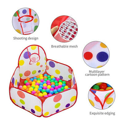 Portable Indoor Kids Baby Children Game Play Toy Tent Ocean Ball Pit Pool Gift