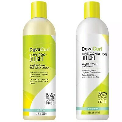 DevaCurl Low Poo Delight And One Condition Delight 12 OZ Duo