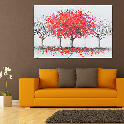 Colorful Tree Canvas Print Painting Wall Art Oil Picture Home Decor Unframed NEW