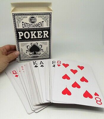 """Jumbo Playing Cards Giant Extra Large Huge 5"""" x 7"""" Big Family Play Game Poker D8"""