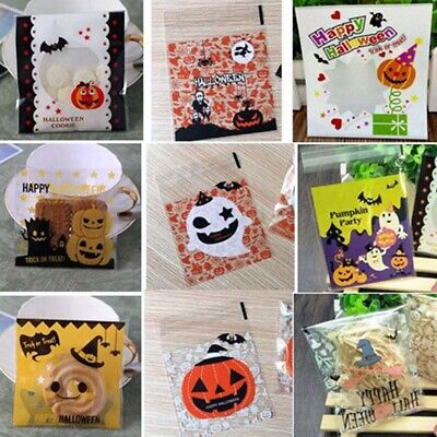 Halloween Candy Self-adhesive Bag Pumpkin Ghost Plastic Packaging Pouch Gifts