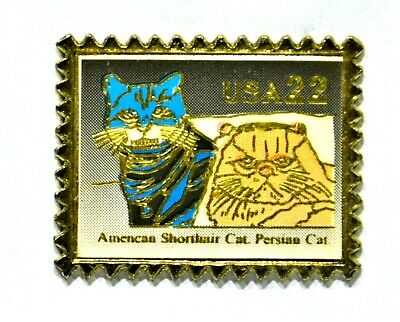 Pins Timbre Chat Persan Cat Forme Timbre Usa 22 C