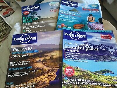 Four LONELY PLANET MAGAZINEs Feb, March, April 2009 & May 2010