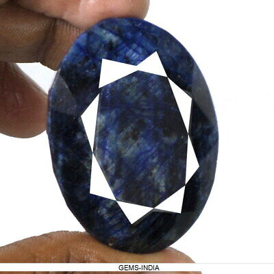 240 Ct Natural Blue Sapphire Oval Cut Gemstone From Madagascar Earth mined Gem