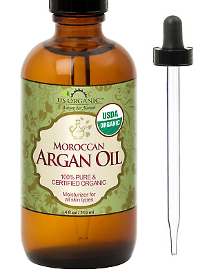 US Organic Moroccan Argan Oil, USDA Certified Organic,100% Pure & Natural, Cold