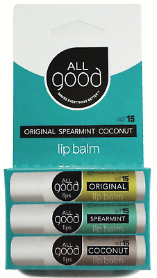 All Good SPF 15 Lip Balm for Soft Smooth Lips - Calendula, Lavender, Olive Oil,