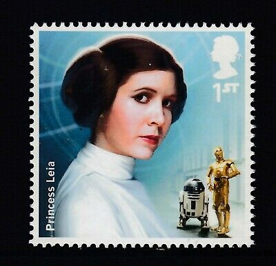 Star Wars - Princess  Leia  On  2015  Gb  Unmounted Mint Stamp