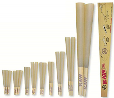 RAW Classic Natural Unrefined 20-Stage Rawket Launcher - 20 Cone Variety Pack 1