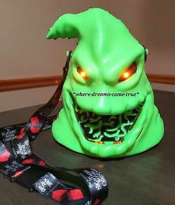 Mickey's Not So Scary Halloween Party Oogie Boogie Light-Up Popcorn Bucket (NEW)