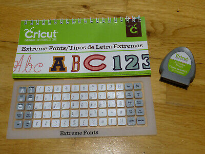 CRICUT CARTRIDGE  - Extreme Fonts - Fonts, Numbers, Letters LINKED
