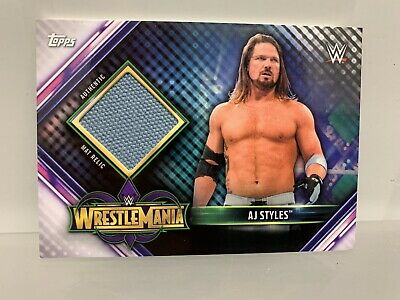 Topps Champions WWE Wrestlemania 34 Mat Relic AJ Styles