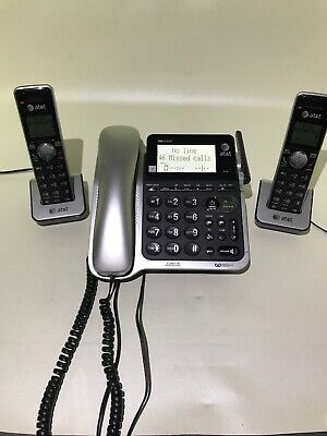AT&T CL84202  Cordless Phone System HD Audio Caller ID Announce 3 handsets