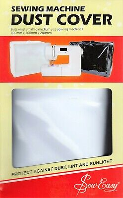 Sew Easy White PVC Sewing Machine Dust Cover