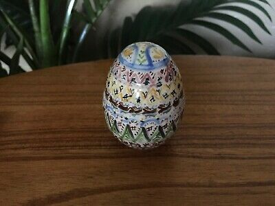 Vintage Hand Painted Porcelain Easter Egg Figurine Collectible
