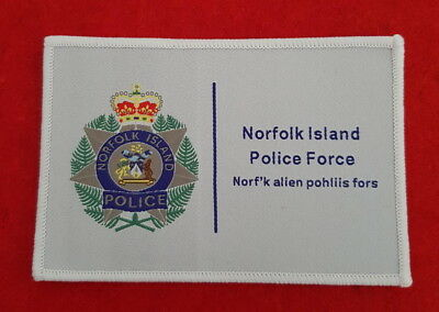 Norfolk Island Police Force Woven Style Patch (social)