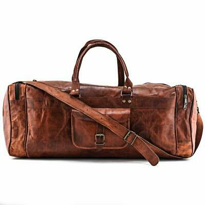 Bag Leather Real Travel Duffel & Luggage Gym Weekend Men Brown Original Holdall