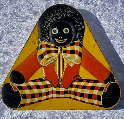 1930's Black Doll Pascall Sweets Lolly Sweets Tin Trinket Box