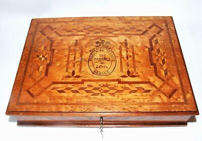 SUPERB ANTIQUE CIGAR BOX BURL WALNUT WOOD & INLAY C. PRIDDLE LIVERPOOL c1890