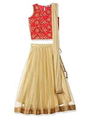 Pink & Cream Kids Lehenga Choli