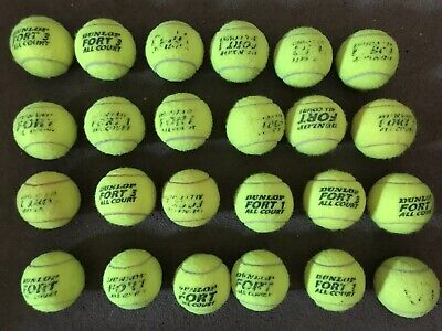 24 Used Tennis Balls - Good For Dog Or Beach