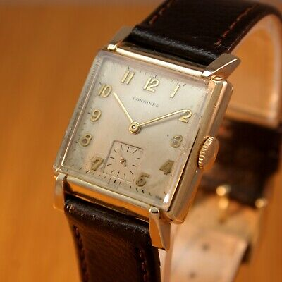 1946 LONGINES Art Deco Vintage Swiss Watch / 10k Gold Filled / JUST SERVICED