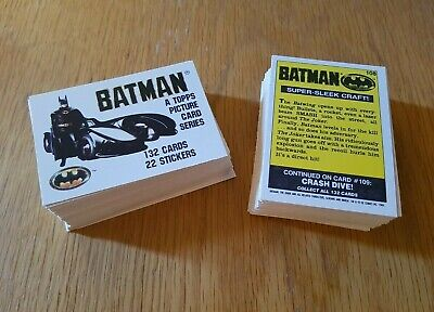 Topps Batman The Movie Cards 1989 DC Comics Series 1 Nos 1-132 Choose From List