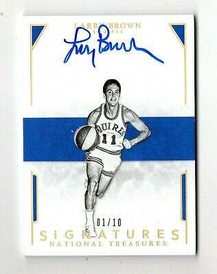 Larry Brown Nba 2015-16 National Treasures Signatures Inscriptions #/10 (Squires