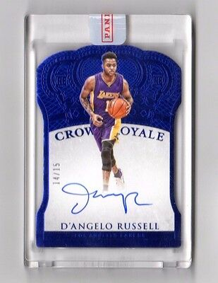 D`angelo Russell Nba 2015-16 Preferred Autograph Blue #/15 ( L.a.lakers,Warriors