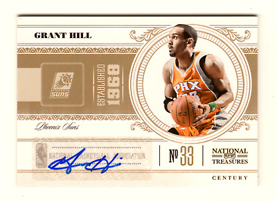 Grant Hill Nba 2010-11 Playoff National Treasures Century Signatures #/25 (Suns)