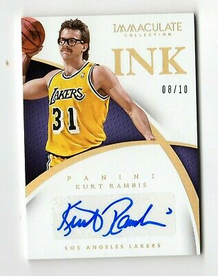 Kurt Rambis Nba 2014-15 Immaculate Collection Ink Gold #/ 10 (Los Angeles Lakers