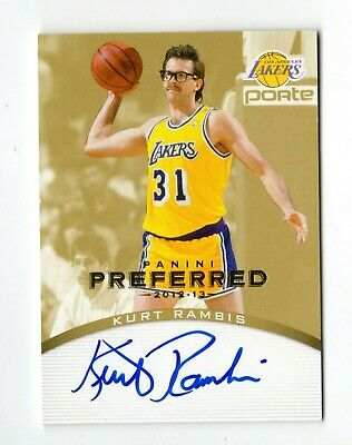 Kurt Rambis Nba 2012-13 Panini Preferred Gold Auto #/ 10 (Los Angeles Lakers)