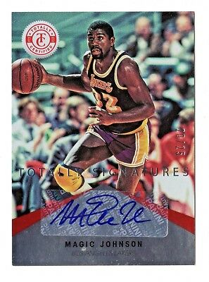 Magic Johnson Nba 2012-13 Totally Certified Red Autographs #/25 (L.a.lakers)