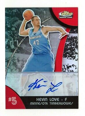 Kevin Love Nba 2007-08 Finest Draft Picks Auto Refractor (Timberwolves,Cavaliers