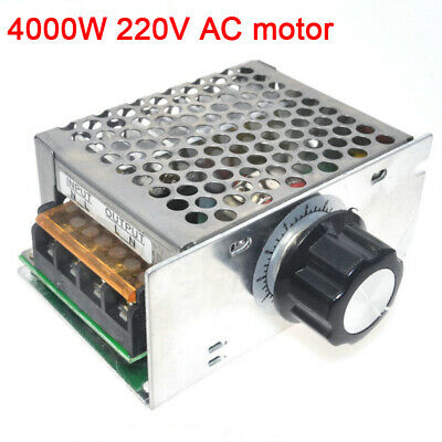 4000W 220V AC SCR Voltage Regulator Dimmer Electric Motor Speed Controller TE474