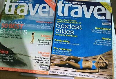 Sunday Times Travel Magazines March & May 2010.. 50 Best Beaches & Sexy Cities