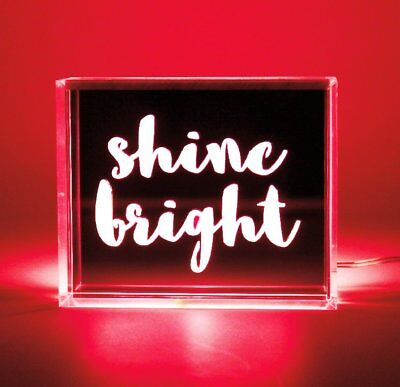 Locomocean RED MINI LED LIGHT Message BOX Bright BE AWESOME TODAY