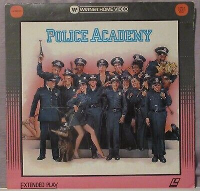Police Academy Laserdisc Steve Guttenberg, Kim Cattrall & Bubba Smith GOOD COND.