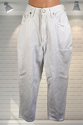 "1980s Vintage High Waisted Baggy White Jeans - Falmers LES CLASSIQUES 24"" Waist"