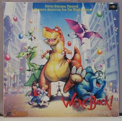 We're Back! A Dinosaur's Story Laserdisc Bilingual Version English/Japanese RARE