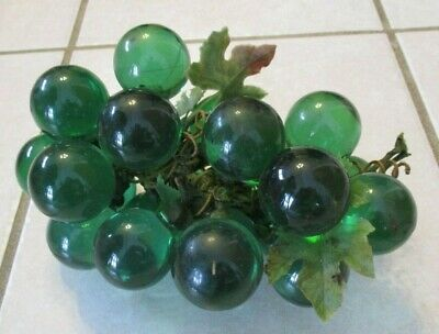Vintage Grapes Acrylic Grape Cluster Green Vine