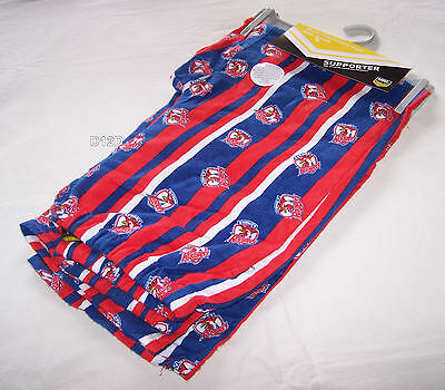 Sydney Roosters NRL Mens Blue Red Stripe Print Flannel Sleep Pants Size M New