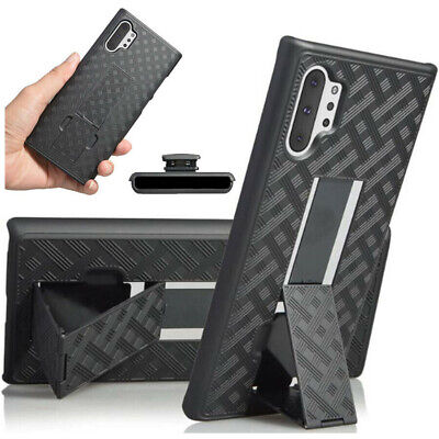 For Samsung Galaxy Note 10 Plus Belt Case w Kickstand Holster Holder Clip Cover